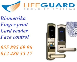 Finger print, card reader, face control – access control sistemlər.